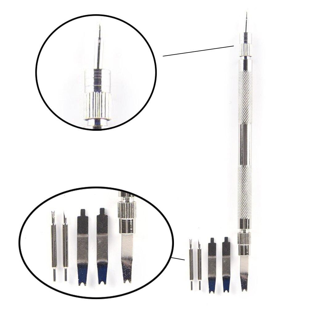 5 pçs/set Hand Tool Set Reparação Bar Primavera Cinta Banda Ligação Remover Acessórios Jóias 2 EM 1 Pin Ferramenta Profissional