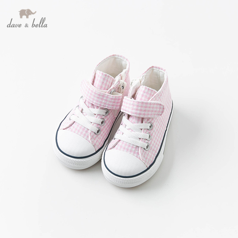 db10956 dave bella sapatos de lona da menina do bebe sapatos casuais rosa primavera outono