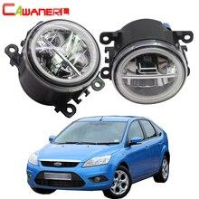 Cawanerl bombilla LED antiniebla delantera + Luz de ojo de Ángel, 2013 2018 MK2 MK3 para Ford Focus, luz diurna DRL 12V, 2 unidades