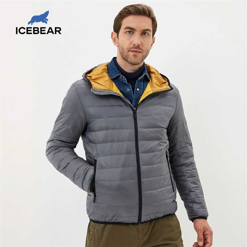 ICEbear 2020 New lightweight men's down coat stylish casual men jacket male hooded jacket brand men clothing MWY19998D|Down Jackets| - AliExpress