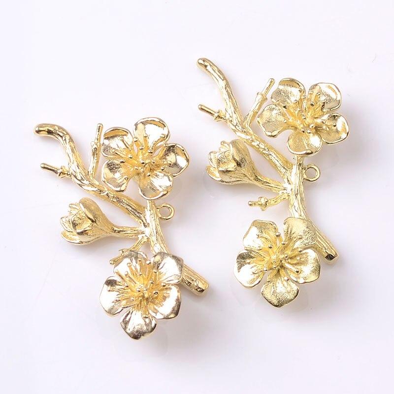 10 pçs 21*39mm flor de cobre encantos diy acessórios para o cabelo do vintage coronet encantos feitos à mão jóias fazendo