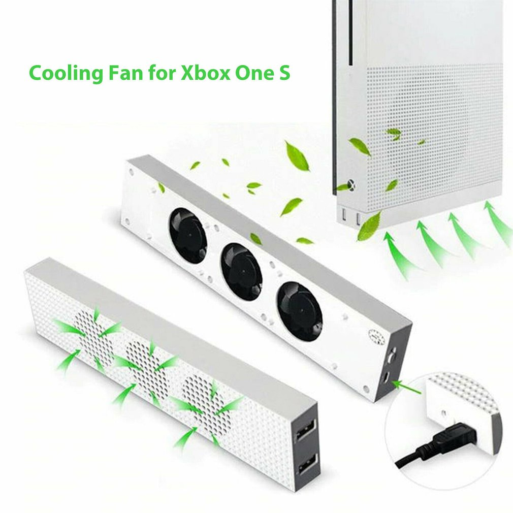 USB External Super Turbo Temperature Control Cooling Fan Cooler 3 Fan With USB Cable For Xbox One S Xbox One Slim Gaming Console