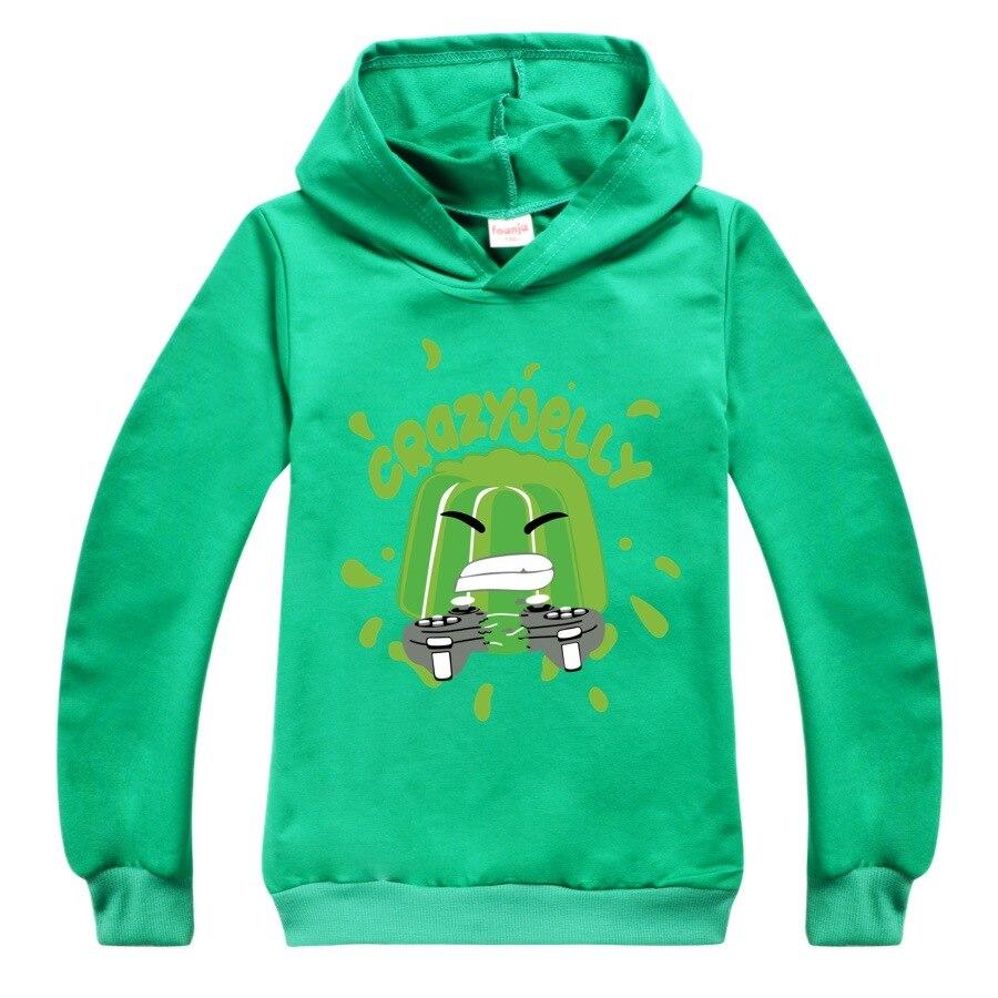 Baby Boys Thin Long Sleeve Kids Clothes Cartoon Jelly Youtube Print Hoodies Girl Costume Children Sweatshirts Top Tees 2