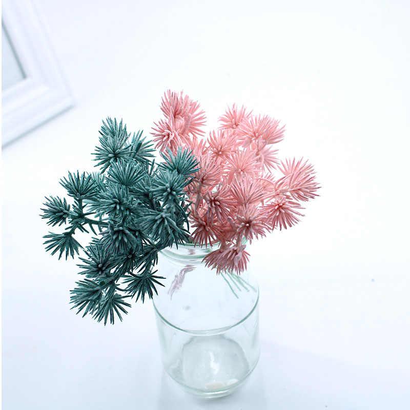 6 個多色クリスマス装飾植物花輪結婚式の装飾の花手作り diy ギフトボックスアクセサリー造花