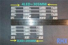 4 יח\חבילה עבור Konka KDL32MT626U LED LCD תאורה אחורית רצועת 35019055 35019056 100% חדש אלומיניום צלחת 6V