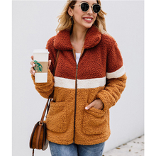 2019 Elegant Faux Fur Coat Women Autumn Winter Thick Warm Soft Fleece Jacket Pocket Zipper Outerwear Overcoat Bear Teddy Coat loozykit elegant faux fur coat women 2019 autumn winter thick warm soft teddy coats faux fleece jacket pocket zipper outerwear