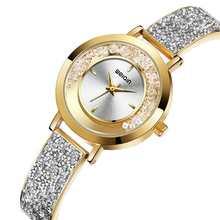 Женские часы Роскошные водонепроницаемые браслет стразы женские