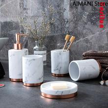 Керамический комплект из пяти предметов для ванной комнаты в