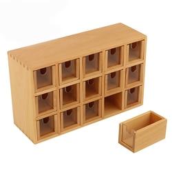 LA143 Монтессори небольшой язык деревянный контейнер для Beechwood Box акриловые материалы обучающий шкаф