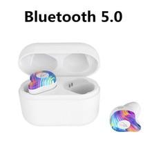 Wireless Bluetooth Earphone 5.0 with Charging Bin Black Binaural In-ear Sports Running Headset Pink Waterproof Stereo Headset цена