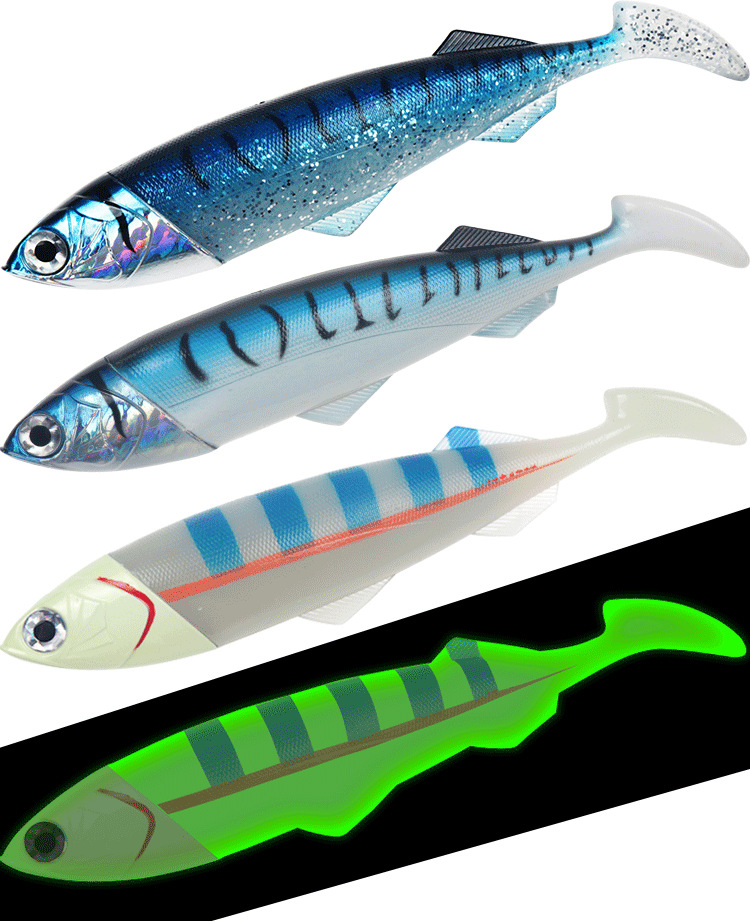 Deep Sea Fishing Lure Metal Fish Head Soft Big Bait 25cm 35cm Spain Mackerel Boat 420g 550g Plastic Accessories Fishing Lures Aliexpress