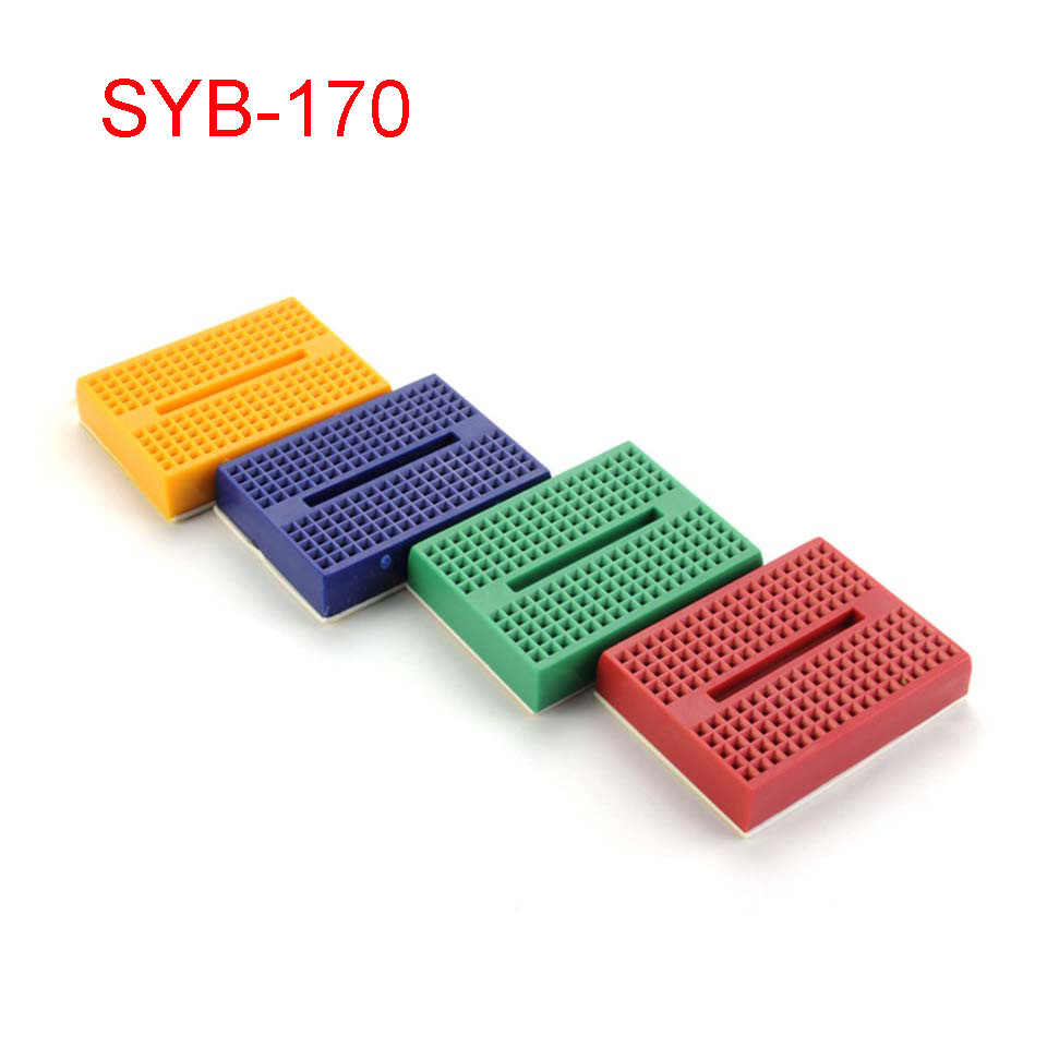 SYB-170 Mini Solderless Prototype Breadboard 170 Tie-points dla arduino Diy Kit