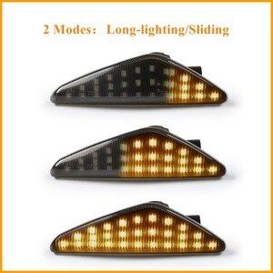 Image 5 - Becar 2 pces âmbar dinâmico led lado marcador transformar a luz do sinal para bmw e70 x5 e71 x6 f25 x3 substituir oem lado marcador luz à prova dwaterproof água