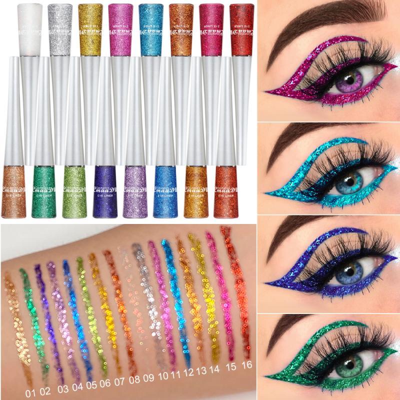 16 Colors Liquid Shiny Eyeliner Quick-drying Long Lasting Non-smudge Eyeliner TSLM1