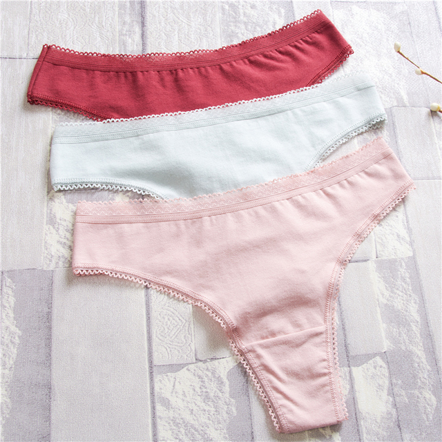 Women Underwear Lingerie Sexy cotton Panties for lady String Thongs Solid Seamless G-String Briefs Panties Panty Intimates 4