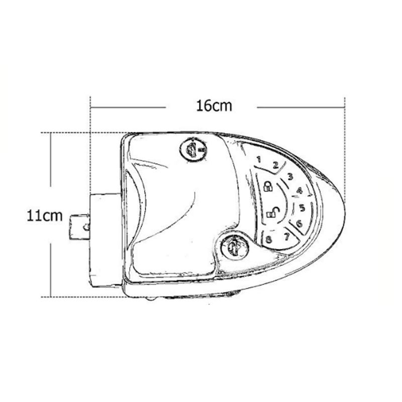 Dual Zinc Alloy RV Remote Entry Door Lock-7