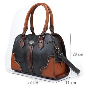 Image 2 - 2019 bayan çanta Kadın Hakiki Deri Çanta Yeni Lüks Vintage Kadın Çanta Büyük Kapasiteli omuzdan askili çanta Ana Kesesi Femme