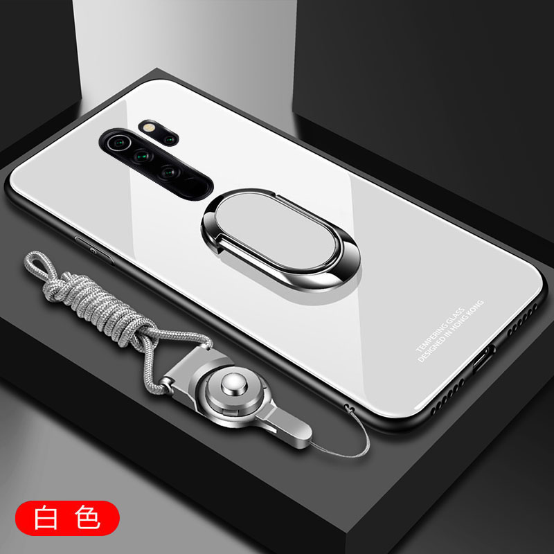 Ha9bd7e3b66e44b52b61b1ff76f66c51eY for Xiaomi Redmi Note 8 Pro Case Tempered Glass Ring Magnet Holder Case for Redmi Note 8 8A 7 9 Pro Soft Frame Stand Back Cover