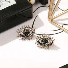 Legenstar Fashion Design Vintage Eye Shape Stud Earrings For Women Rhinestone Trendy Ear Jewelry Boucle doreille Femme 2019