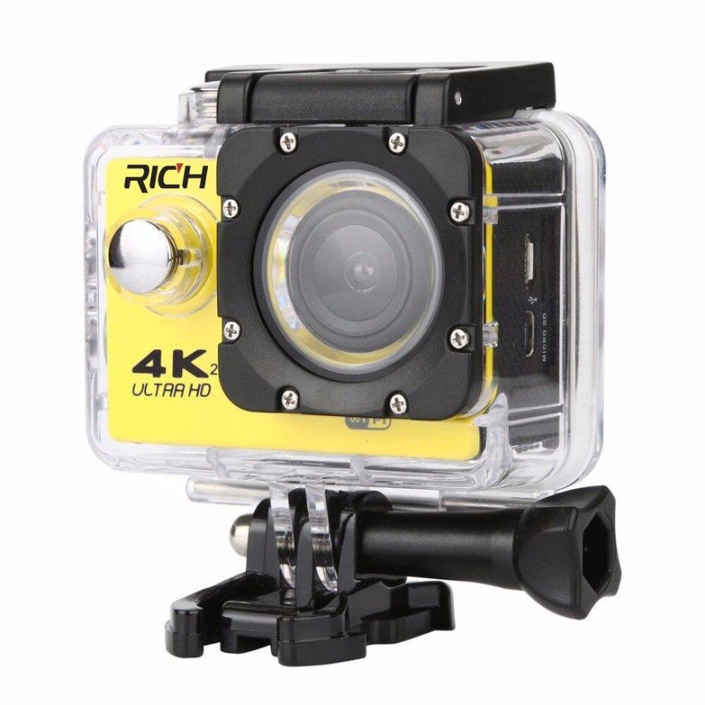 Caméra de sport à objectif grand angle HD 2 pouces Go Pro caméra colorée étanche extrême pour utilisation Youtube Facebook Ins