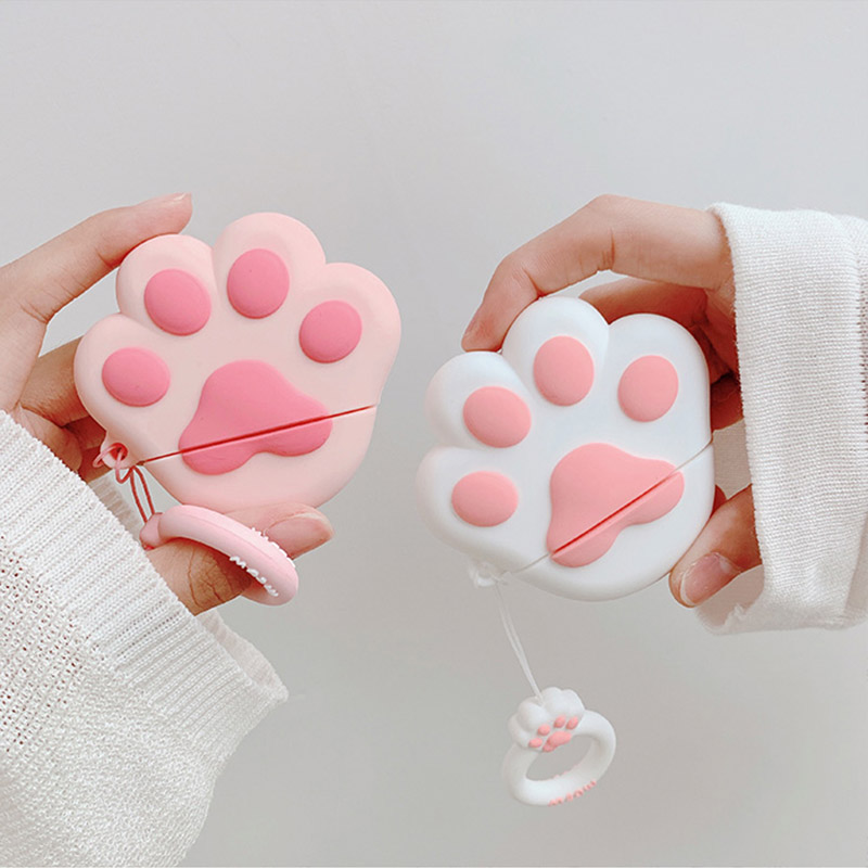 Cute Earphone Case For Airpods Case Bluetooth Funny 3D Cat Claw Cover For Apple Air Pods 2 Protective Case Earpods Headset Bag
