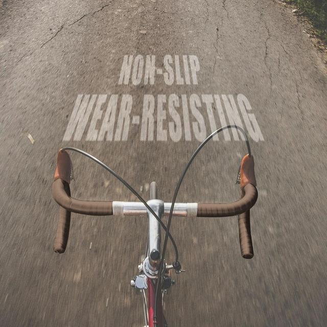 Brown 2pcs Bike Bicycle Handlebar Tape Anti-Slip Cycling Handle Belt Sponge Bandage Anti-sweat Handlebar Cover Practical 3