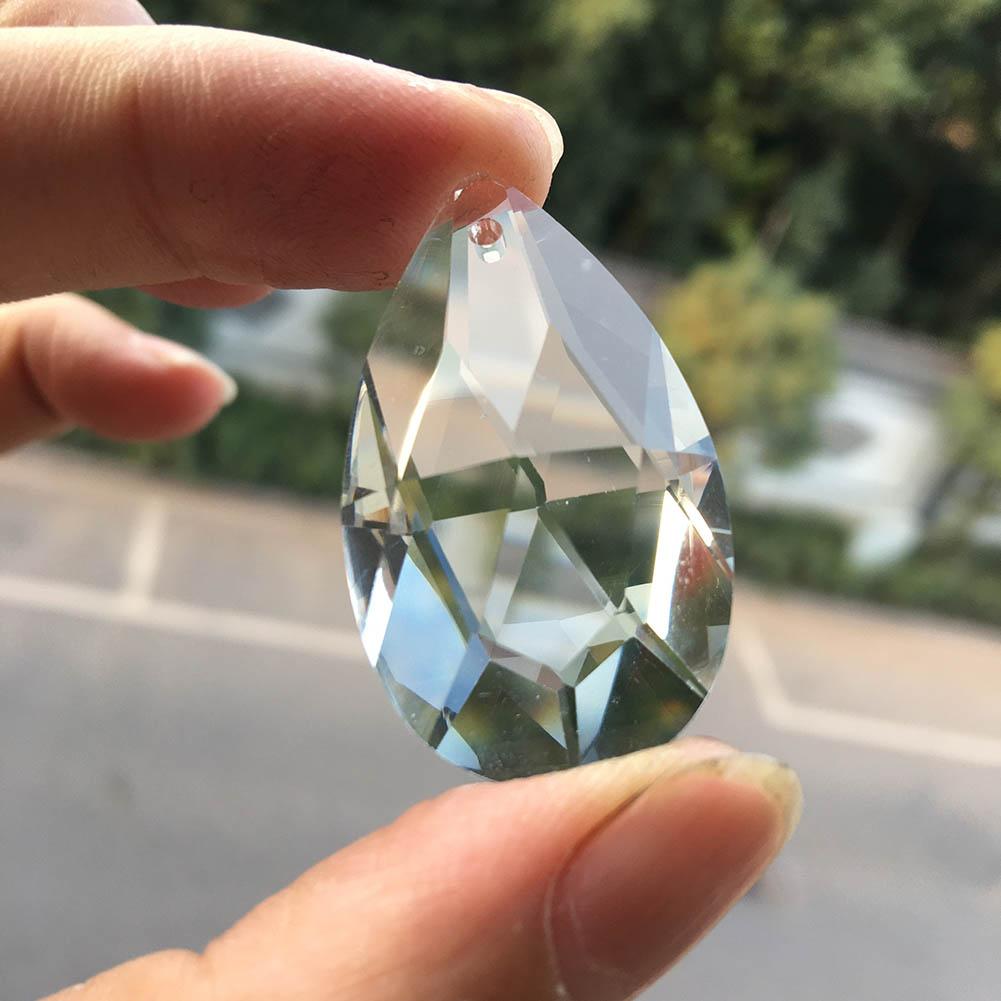 1Pcs K9 Crystal Glass Art Chandelier Lamp Prism Part DIY Faceted Pendant 38MM Faceted Suncatcher Charm
