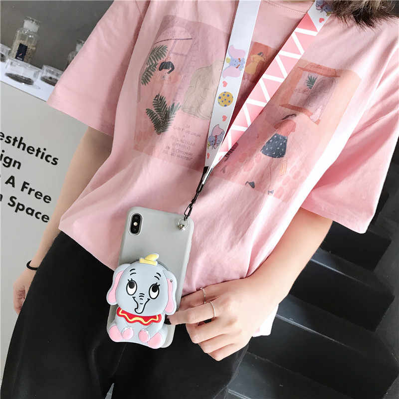 3D Cartoon Wallet Phone Case For Huawei Honor 8X 7C 9X Pro 9 lite nova 3i P Smart Z Plus 2019 Soft Coin Silicone Purse Cover