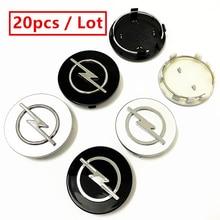 Opel – autocollants de style de voiture, 20 pièces, 56mm 59mm 60mm 64mm 65mm 68mm, pour centre de roue, couvercle de jantes, Badge Logo