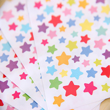 1 pcs/pack Colorful Stickers For Journaling Lovely Stickers Adhesive Star, heart, round shape Bullet s journal, photo decoration