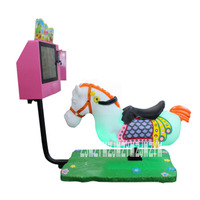3D Horse Racing Game Machine Music Video Screen Children's Horse Riding Swing Machine Rocking Car coin operated Game Machine