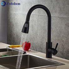 Taps Faucet Deck-Mounted Kitchen-Basin Pull-Out Hot-Mixer Cold Black ZOTOBON And M237