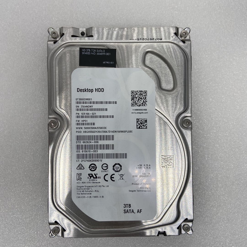 """New HDD For Seagate Brand BarraCuda 3TB 3.5"""" SATA 6 Gb/s 64MB 7200RPM For Internal Hard Disk For DesktopHDD For ST3000DM001 2"""