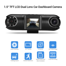New Car DVR Camera HD Dual Channel Mini DVRs WiFi Dash 1.5 LCD TFT 140° Vehicle Cam G-Sensor Loop Recording