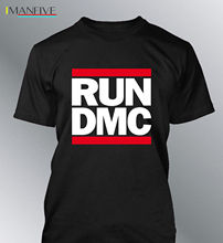 T-shirt RUN DMC S-3XL Man Round Neck Group Music Rap Hip Hop T Shirt Brand 2019 Male Short Sleeve Top Tee PLUS SIZE HARAJUKU