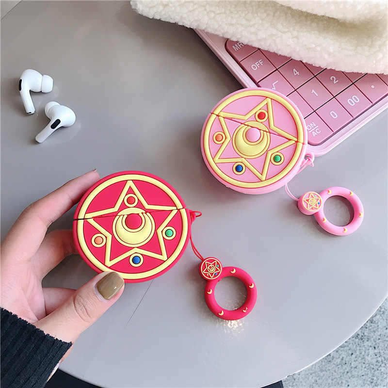 Teyomi Casing Lucu Kartun 3D Sailor Moon untuk Airpods 3 Pro Casing Earphone Silikon Lunak Casing Headphone Penutup untuk Airpods 1/2 Casing