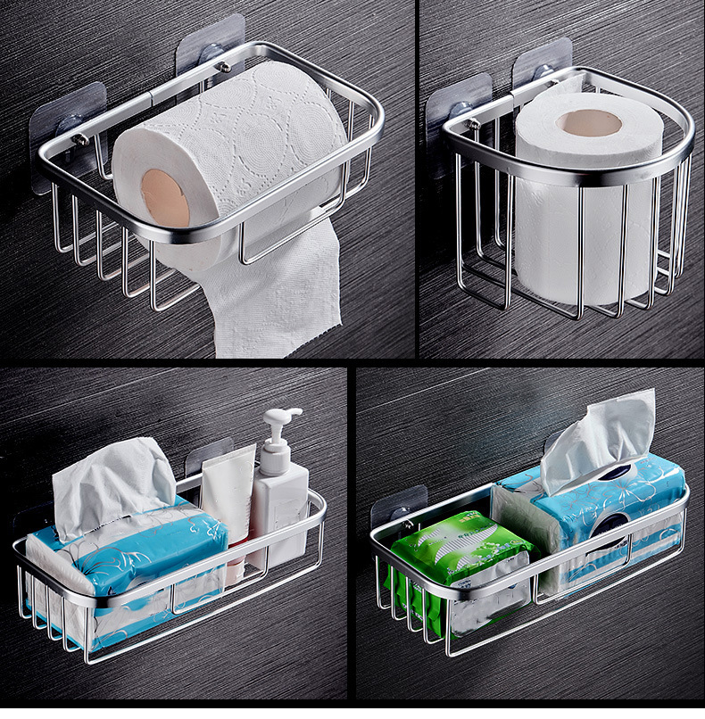 toilet paper box tissue box paper holder creative toilet suction tray paper roll holder bathroom accessories wall shelf Soap box