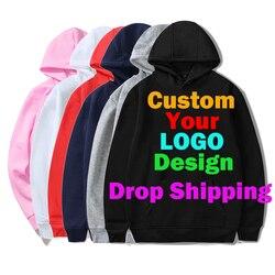 Dropshipping 3D Hooded Sweatshirt Custom Hoodie for Women Men DIY Logo Casual Clothes Customization for Customers Wholesale 4XL