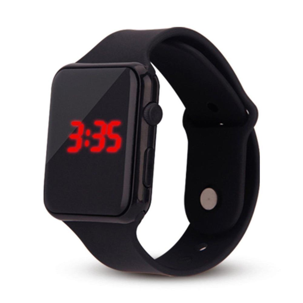 New Silicone Strap Unisex Digital LED Sports Watch Silicone Band Wrist Watches Men Children Fashion Relogio Masculino HotSale Fi