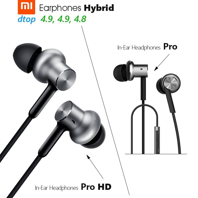 Оригинальные наушники Xiaomi Hybrid Pro HD, наушники Hybrid Pro с тройным и двойным динамическим драйвером, сбалансированная конструкция Mi, вкладыши с уп...
