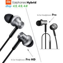 Xiaomi hybrid pro fone de ouvido original, fone de ouvido pro hd/híbrido triplo/duplo driver dinâmico + armadura equilibrada mi in-controle de linha da orelha microfone