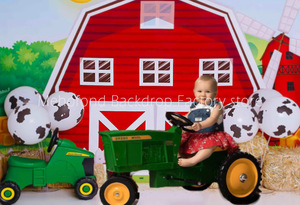 Image 5 - Mehofond Photography Background Farm Red Barn Rustic Animals Hay Baby Birthday Party Decor Portrait Backdrop Photo Studio Props
