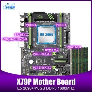 X79 набор материнских плат с LGA2011 combos Xeon E5 2690 CPU 4 шт. x 8 ГБ = 32 ГБ памяти DDR3 RAM радиатор 1600 МГц PC3 12800R