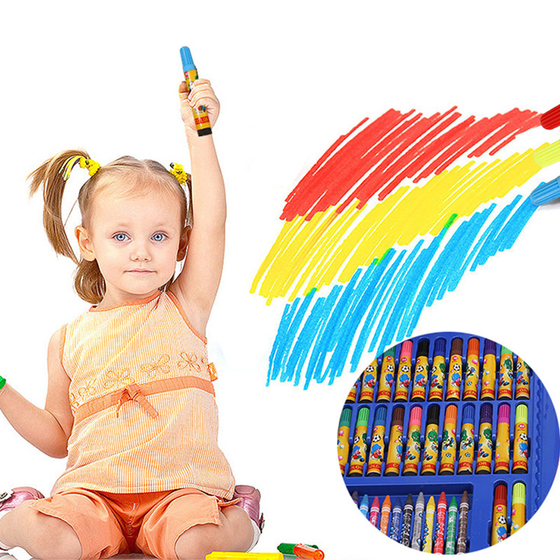 Image 4 - New Sale 86 Pcs Children Painting Tools Art Supplies for Drawing with Watercolor Pen Ruler Eraser SharpenerCrayons   -