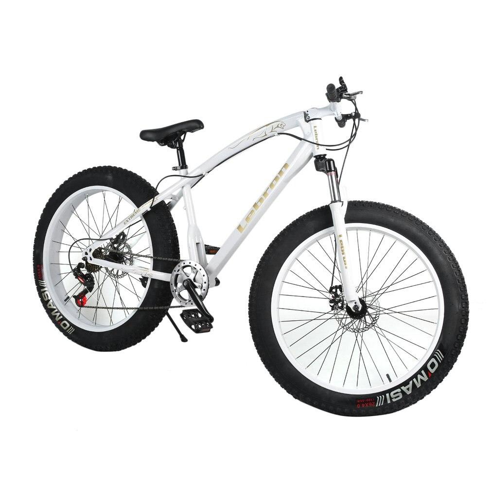 26X21 дюймов 7 Скорость снеговой велосипед двойной диск торможения Системы велосипеда Сталь рама горный велосипед Спорт на открытом воздухе в...