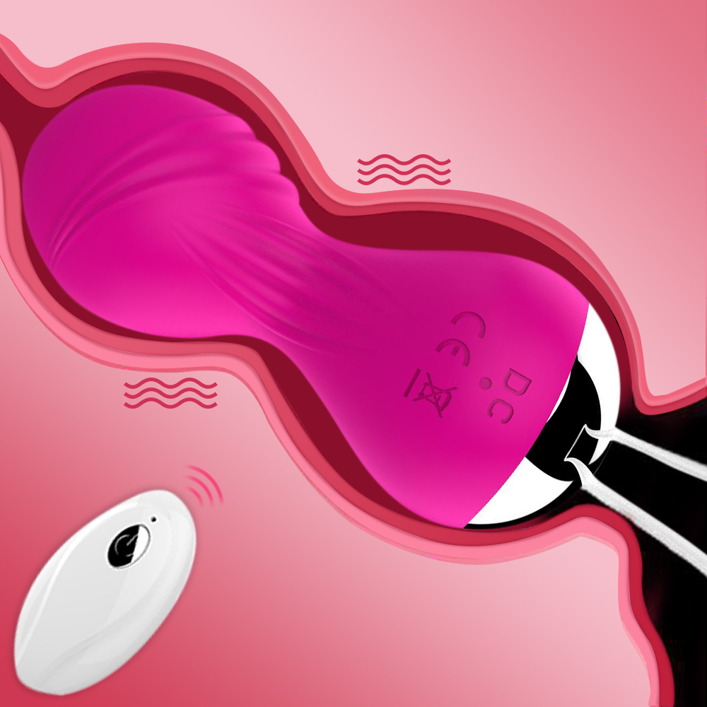 Remote Kegel Ball Shrink Pelvic Floor Muscle  Rechargeable Silicone Vagina Dumbbell G-spot Vibrator FemaleSex Toys