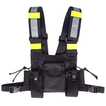 Holster Vest Radio-Harness Tactical-Vest Chest-Rig Reflective Pouch Highly-Visible
