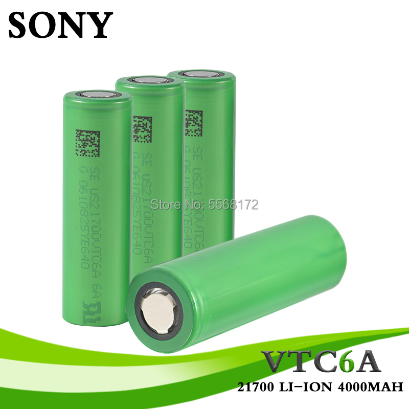 21700 For SONY 3.7V 30A Discharge Drain Li-ion 4000mah Rechargeable Battery Accu 21700 Battery For Electronic Cigarette Mod