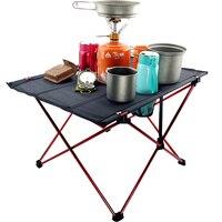 テーブルデスク折りたたみ テーブルキャンプピクニック野外 6061 超軽量アルミ合金|屋外テーブル|   -