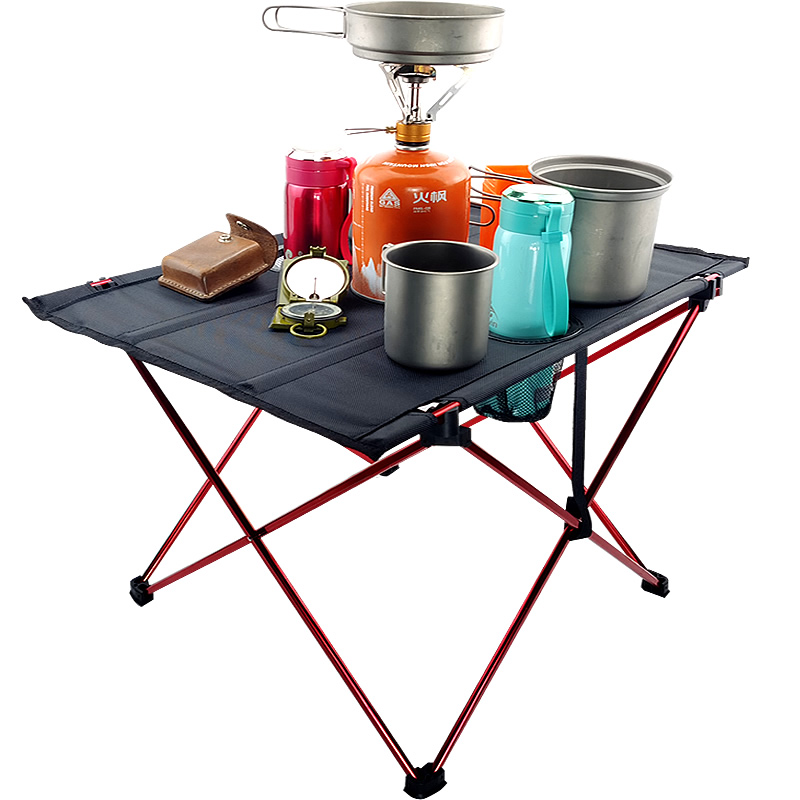 Table Desk Folding-Table Camping Picnic Outdoor 6061 Ultra-Light Aluminium-Alloy